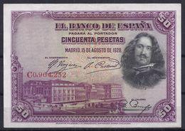 ESPAÑA 1928 - BILLETE SIN CIRCULAR - 50 Pesetas