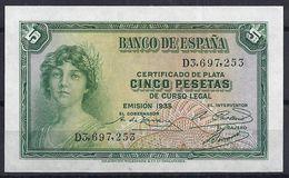 ESPAÑA 1935 - BILLETE SIN CIRCULAR - [ 1] …-1931 : Premiers Billets (Banco De España)