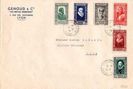 Lettre De 1944 - Série YT N° 587 à 592 - Francia