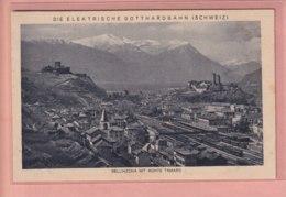 OUDE POSTKAART ZWITSERLAND - Svizzera -  BELLINZONA MONTE TAMARA  - STATION - TI Tessin