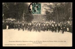 54 - NANCY - INAUGURATION DE L'EXPOSITION PAR M. BARTHOU MINISTRE DES TRAVAUX PUBLICS LE 20 JUIN 1909 - Nancy