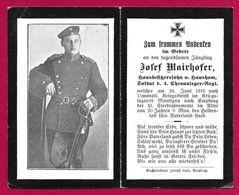 Faire Part De Décès - Première Guerre Mondiale - Soldat Josef Mairhofer Décédé En 1916 - Todesanzeige