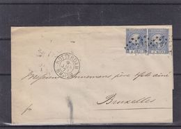 Pays Bas - Lettre De 1871 - Oblit Rotterdam - Exp Vers Bruxelles - Cachet Hollande Par Nord 1 - Covers & Documents
