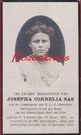 Mejuffer Josepha Sas Vosselaer Vosselaar 1891 - 1916 Antwerpse Kempen Doodsprentje Bidprentje Image Mortuaire - Images Religieuses