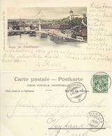 Gruss Von Schaffhausen - Veytaux              1899 - SH Schaffhouse