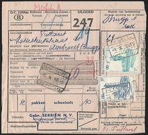 1956 - BELGIË/BELGIQUE/BELGIEN - Document - Michel 309+312 - Y&T 344+346 + NIEL & BRUGGE - Railway