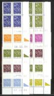 LOT DE 10 COINS DATES DIFFERENTS TYPE LAMOUCHE 20% SOUS FACIALE ** - Dated Corners