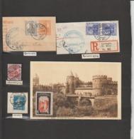 France:Lorraine  Obliterations  Sur  Fragments  Lorringen  .Bornen . - Alsace-Lorraine
