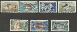 Mali - 1960 Fishes MNH **   Sc 2-8 - Mali (1959-...)