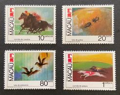 MAC5637-40MNH-Macau Games And Entertainment Games With Animals Complete Set Of 4 MNH Stamps - Macau - 1990 - Neufs