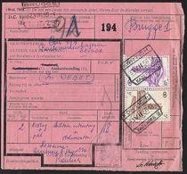 1956 - BELGIË/BELGIQUE/BELGIEN - Document - Michel 304+314 - Y&T 340+348 + KONTICH, BRUGGE & ANTWERPEN - Railway