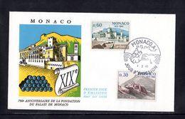 """"""" PALAIS PRINCIER """" Sur Enveloppe 1er Jour De 1966 N° YT 680 681 Parfait état FDC - FDC"""