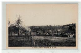 70 VAUVILLERS #12319 QUARTIER DE LA GARE TRAIN LOCOMOTIVE - Autres Communes