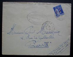 Marignane 1939, Bataillon De L'air 108, Cachet Sur Lettre En Franchise Pour Paris - Postmark Collection (Covers)