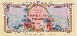 Étiquettes De Savon, Aux Fleurs D'Alsace - Savonnerie Rémy - Paris - ( 168 Mm X 81 Mm ) - Etiquetas