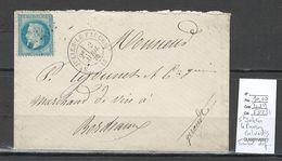 France -Lettre - SAINT JULIEN LE FAUCON - Calvados - 1870 - - 1849-1876: Période Classique