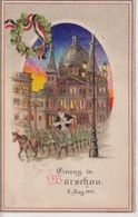 EINZUG IN WARSCHAU Propaganda Halt Gegen Das Licht CONRALUZ Contre La Lumière 1914/15 WWI WWICOLLECTION - Polonia