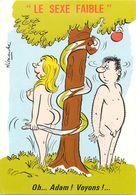 ILLUSTRATEUR ALEXANDRE - HUMOUR LE SEXE FAIBLE - OH...ADAM ! VOYONS ! ... - Fantaisies