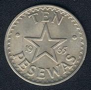 Ghana, 10 Pesewas 1965, UNC - Ghana