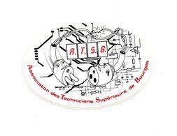 Autocollant A.T.S.B Association Des Techniciens Supérieurs De Bourges - Format : 12x8 Cm - Stickers