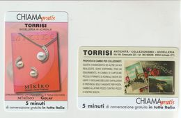 """11- Coppia Chiama-Gratis-Pubblicitaria Mikiko-Gioielleria Torrisi-Acireale + """"Collezionismo Cartoline""""-nuove - Usos Especiales"""