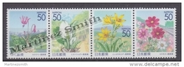Japan - Japon 2003 Yvert 3340-43, Flowers Of Shinshu, Nagano Prefecture - MNH - Unused Stamps