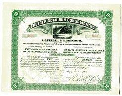 CRUEGER GOLD RUN CONSOLIDATED; Ten Shares (Canada) - Mines