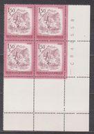 1974 , Mi 1439 ** (11) -  4er Block Postfrisch - Freimarke : Schönes Österreich , Bludenz (Vorarlberg) - 1971-80 Unused Stamps