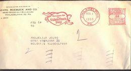 USA - VALENTINE'S DAY Meter Postmark - PHILADELPHIA - 1956 - Feesten