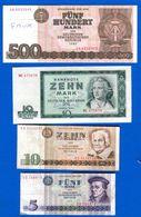 Ddr  500  Mark  Faux  +  3  Billets - [ 6] 1949-1990 : RDA - Rep. Dem. Tedesca