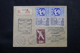 A.E.F. - Enveloppe 1er Vol France Libre En 1943 De AEF / Madagascar Avec Contrôle, Affranchissement Plaisant - L 62809 - Storia Postale