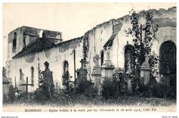 88 MANDRAY - église Brulée [REF/S009548] - France