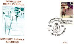 1775 (Fondation Reine Fabiola) Sur FDC P452 Saint-Georges-sur-Meuse 14-6-1975 (dessin De Dragon Et Chevalier) - FDC