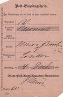 HAMBURG 1866    DOCUMENT POSTAL - Hamburg