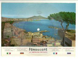 """8299""""CARTOLINA DISCO FONOSCOPE-NAPOLI-PAN.E VESUVIO-SERENATELLA SCIUE' SCIUE'-CANTA C. LOJACONO""""-CART. POST. OR. NON SP. - Napoli"""
