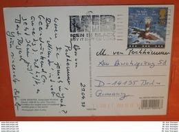 GB UK 1743 Leuchtturm SST Slogan: MIB Men In Black ...  - AK Postcard: York Minster 24.04.1998 (2 Foto)(60887) - Briefe U. Dokumente