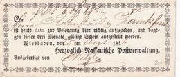 PREUSSEN 1846    DOCUMENT POSTAL DE WIESBADEN - Preussen (Prussia)