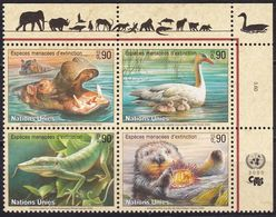 UNO-Genf, 2000, 385/88,  MNH **,  Gefährdete Arten (VIII): Fauna. - Nuevos