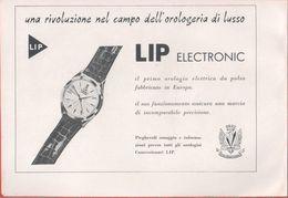 Orologio LIP Electronic. Pubblicita 1959 - Publicités