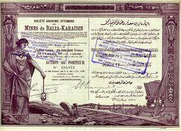 Ottomane Des MINES De BALIA-KARAIDIN - Mines