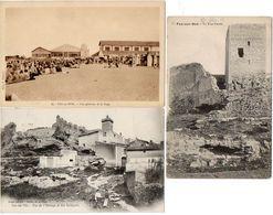 FOS SUR MER - 3 CPA - Vue Del' Horloge Et Des Remparts- La Tour Carrée - Vue Gle Sur La Plage (1311 ASO) - Autres Communes