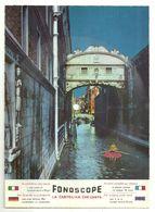 "8301""CARTOLINA DISCO FONOSCOPE-VENEZIA-LA BIONDINA IN GONDOLETTA-CANTA C. LOJACONO""-CART. POST. OR. NON SP. - Venezia"