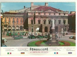"8302""CARTOLINA DISCO FONOSCOPE-MILANO-IN UN PALCO DELLA SCALA-CANTA JULIA DE PALMA E TEDDY RENO""-CART. POST. OR. NON SP. - Milano (Mailand)"