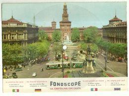 "8303""CARTOLINA DISCO FONOSCOPE-MILANO-CASTELLO SFORZESCO-CASETTA IN CANADA'-CANTA C. LOJACONO""-CART. POST. OR. NON SP. - Milano"