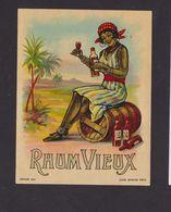 Ancienne étiquette Alcool France Vieux Rhum Vieux Femme - Rhum