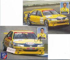 PEUGEOT Sport - AIELLO Et Van OMMEN - Lot De 2 Cartes - Sport Automobile
