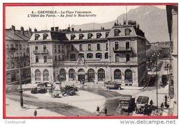 CPA 38 GRENOBLE La Place Vaucanson L' Hotel Des Postes Au Fond La Moucherotte - Grenoble
