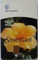 GRENADA - Chip - Smartcard - Buttercup - Floral Series - Used - Grenada