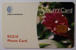 GRENADA - Chip - Smartcard - Ginger Lily - Floral Series - $10 - Used - Grenada