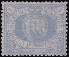 San Marino - 590 * 1899 - L. 1 Oltremare N. 31. Cert. E. Diena. Cat. € 1400,00. SPL - Saint-Marin